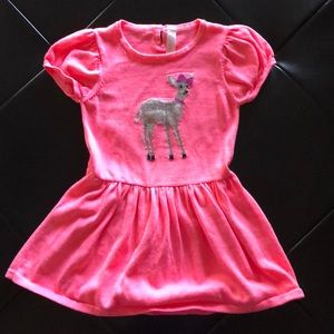 Other - Bright pink dress with deer